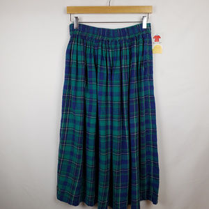 Dimanche Womens Vintage Pleated Skirt Pull On